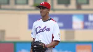 Yaisel Sierra when he pitched for Team Cuba.
