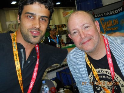Montos with Mike MIgnola, creator of the Hell Boy.