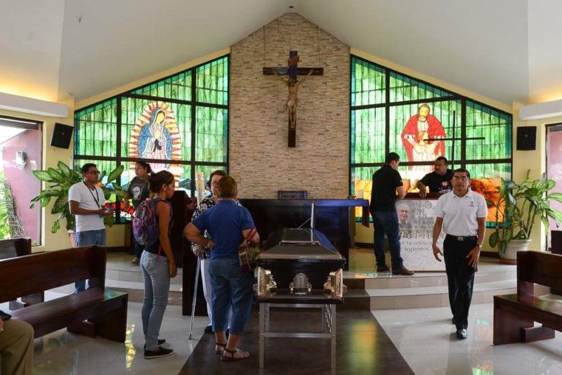 The wake for Ferando Cardenal. Photo: Carlos Herrera/confidencial