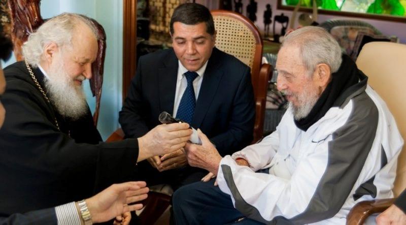Fidel Castro and the Russian Orthodox Church patriarch Kirill.