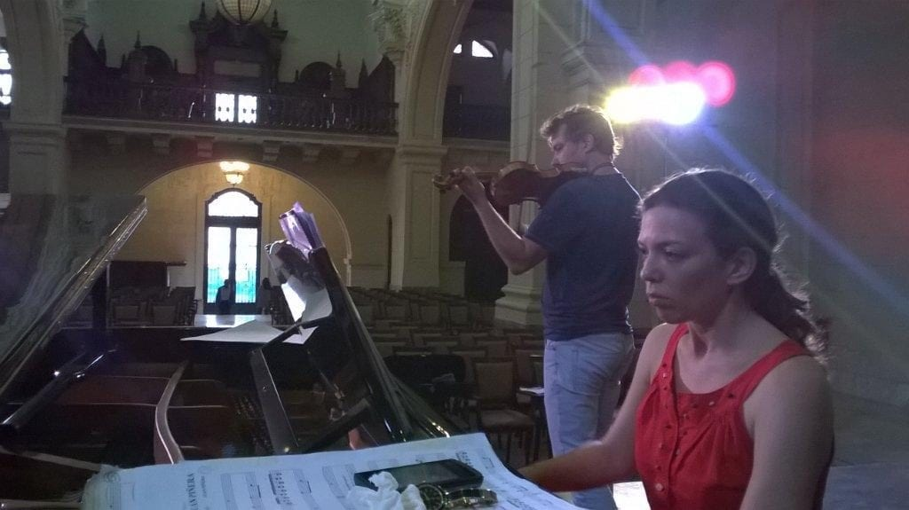 Lianne Vega at the piano.