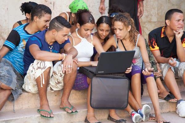 Young Cubans. Photo: Charlie Rosenberg
