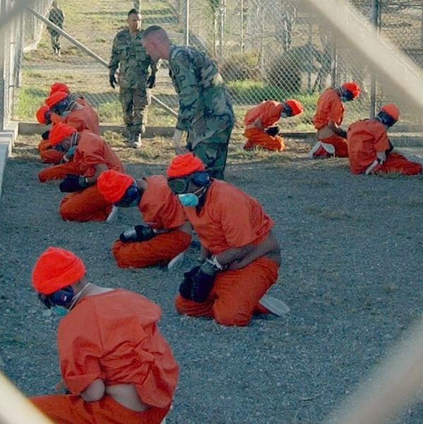 The Guantanamo Prison where US troops use different torture techniques on prisoners.