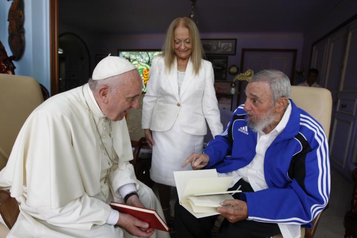 El papa Francisco y Fidel Castro cuando el primero visitó a La Habana de manera oficial en Septiembre de 2015.