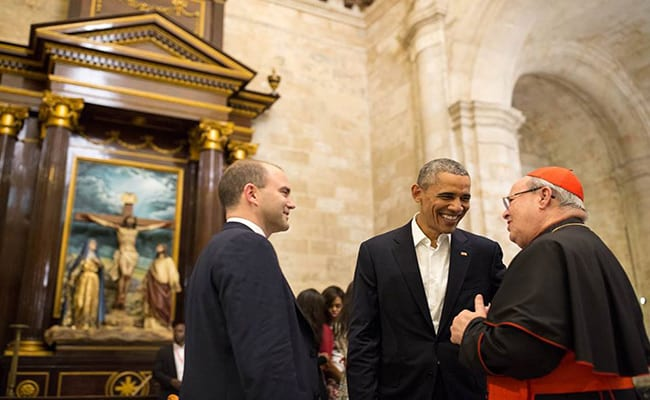 Obama's first encounter in Cuba was with Cardinal Jaime Ortega, who has served as a bridge between the two governments on several occasions.