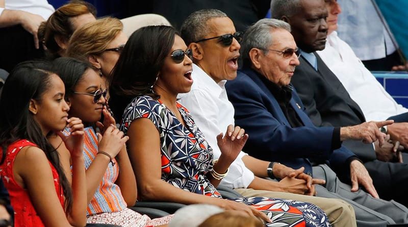 Obama´s visit ended with a baseball game between Cuba and the United States attended to by Raul Castro. Baseball is the national sport of both countries.