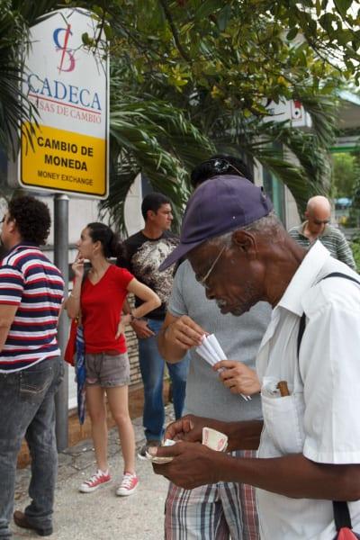 A Havana currency exchange office.