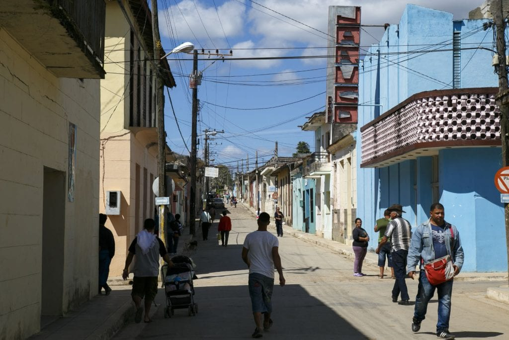 Calle principal del pueblo de Jaruco