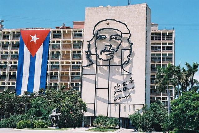 The Che sculpture in Revolution Square Havana.