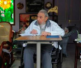 A recent photo of Fidel Castro at his home in Havana.