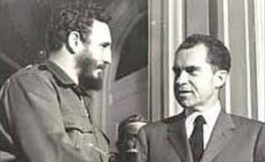 Fidel Castro with Richard Nixon in April 1959.
