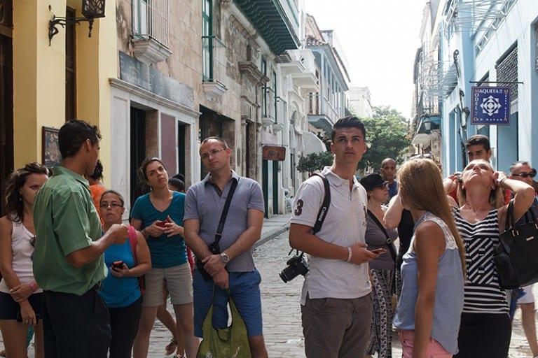 Tourists in Havana.
