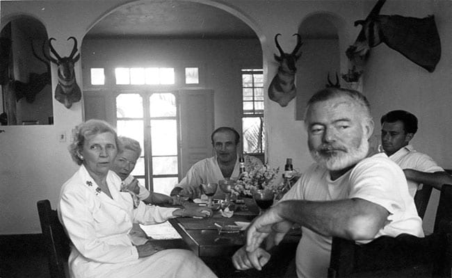 Hemingway at Finca Vigía.