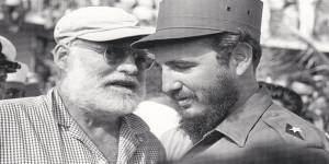 Hemingway with Fidel Castro