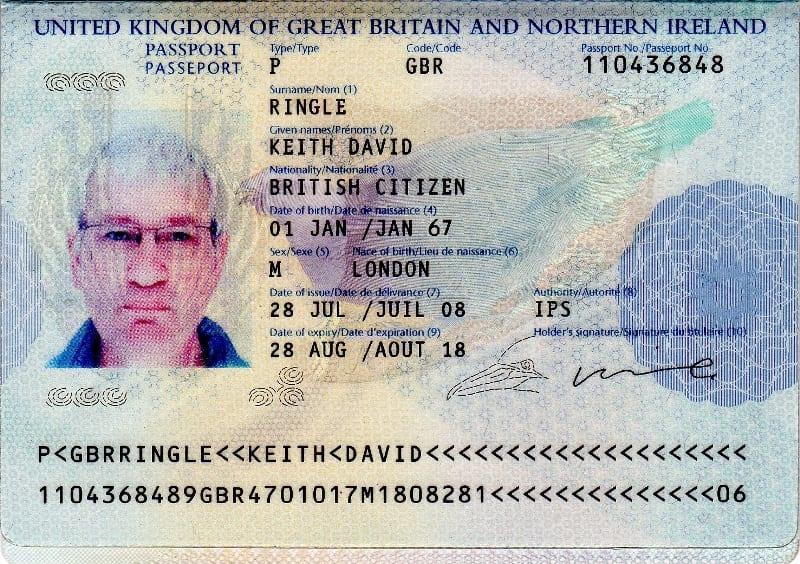 Keith passport
