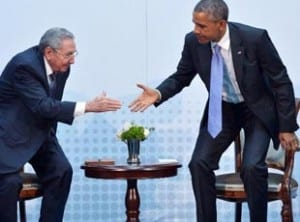 Raul Castro and Barack Obama during a previous meeting.