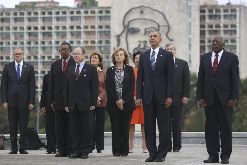Obama in the Plaza of the Revolution. Photo: slate.com