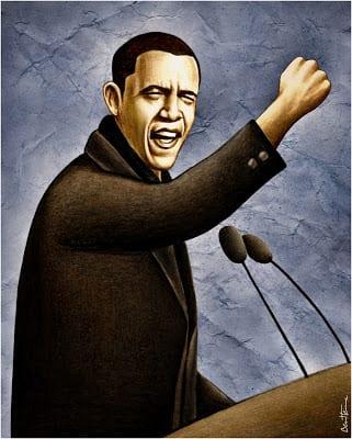 Barack Obama: Ilustration by Ben Heime