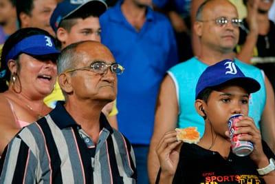 Cuban baseball fans.