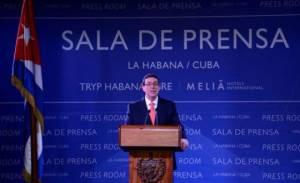 Cuban Foreign Minister Bruno Rodríguez.