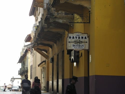 It could be downtown Panama City or Havana.