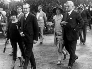 Calvin Coolidge visiting Cuba in 1928.