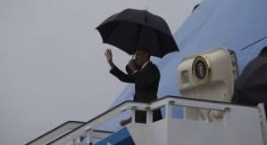 Barack and Michelle Obama arriving to Cuba. Photo: Ismael Francisco/cubadebate.cu