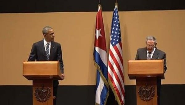 The Obama - Castro press conference after their private meeting. Photo: telesurtv.net