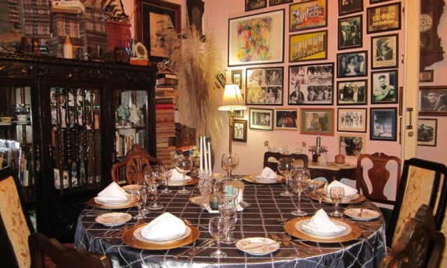 Table at the San Cristobal private restaurant in Centro Habana.