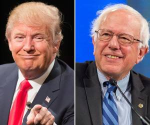 Donald Trump and Bernie Sanders. Photo: newsmax.com/Getty images
