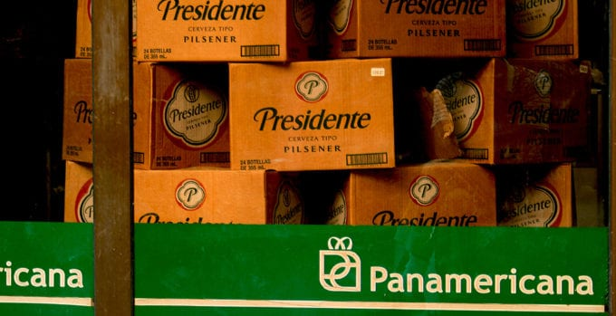 Presidente, an imported beer.