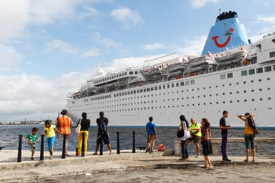 Cruise Ship in Havana Bay. Now Carnival will begin service from Miami.