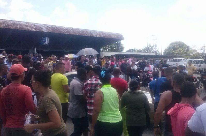 Cubans at the Panamanian-Costa Rican border.