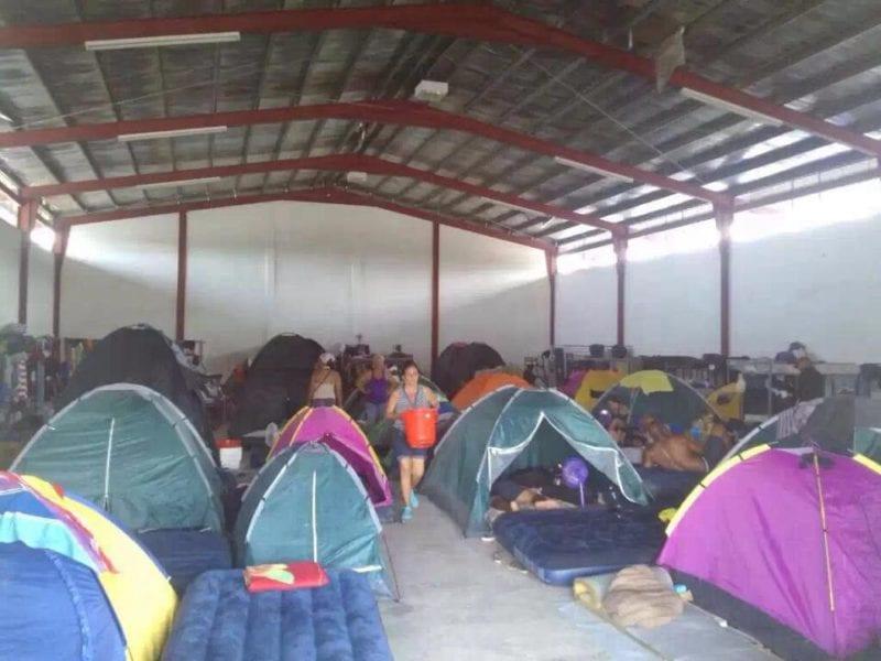Cubans stuck in Panama. Photo: from the cubanosenpanama FB page.