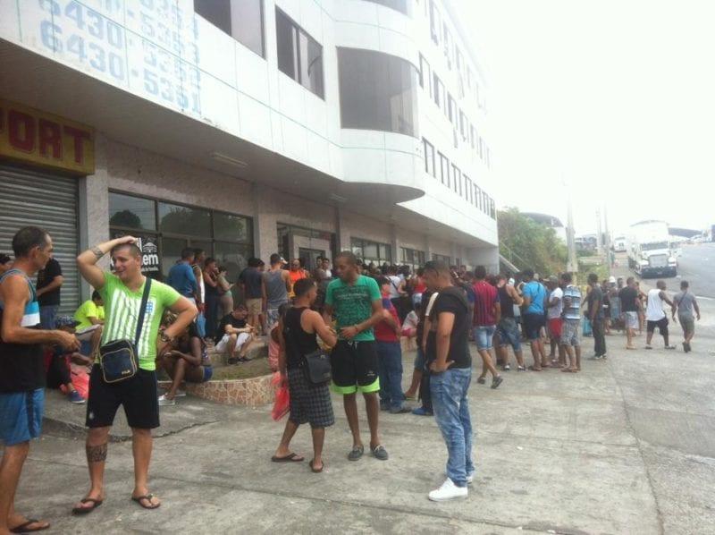 Cubans stuck in Panama.