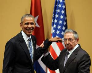 Barack Obama and Raul Castro after their press conference on March 21, 2016. Photo: Alejandro Ernesto/EFE