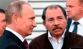 Vladimir Putin and Daniel Ortega. Photo: radionicaragua.com.ni