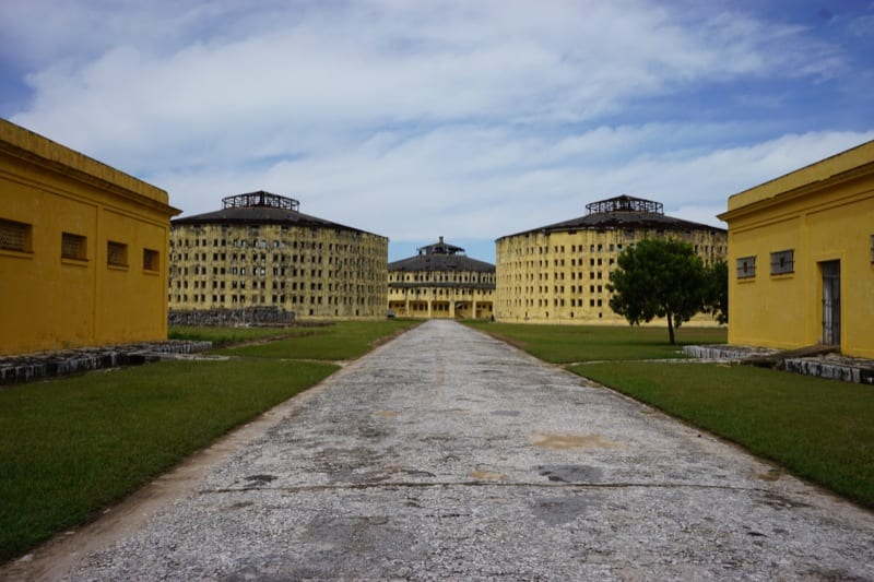 View of some of the prison buildings.