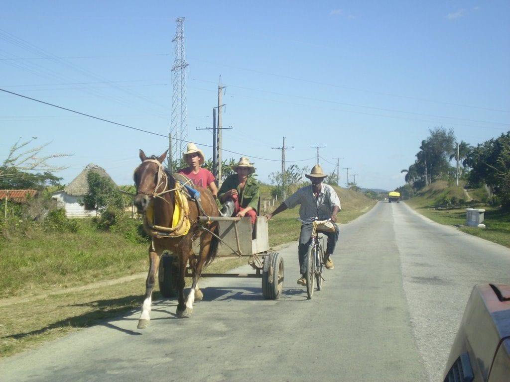 La carretera central de Cuba.