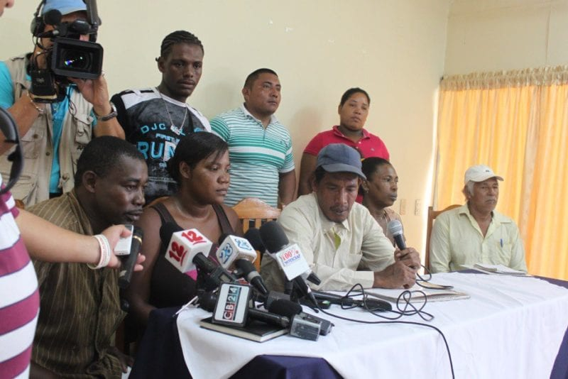 Members of native communities who claim they were not consulted about the leasing of their lands to the Canal consortium.