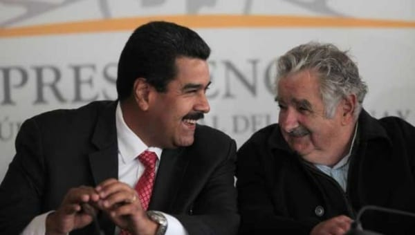 Maduro and Mujica during happier times. File photo: telesurtv.net
