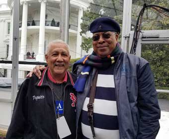 Paquito D'Rivera and Chucho Valdes at the White House. Photo: cafefuerte.com