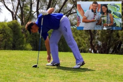 Tony Castro enjoying a round of golf at Varadero.