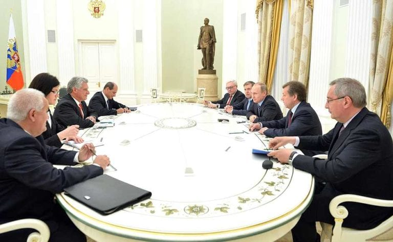 Diaz Canel and Putin meet in Moscow.