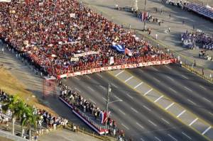 May Day parade in Havana's Revolution Square. Photo: Roberto Garaicoa/ Cubadebate