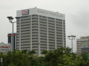 The Popular Bank buildling in Puerto Rico.
