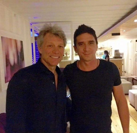 Bon Jovi in Havana with Cuban pop-rock artist David Blanco. Photo: FB of D.B.