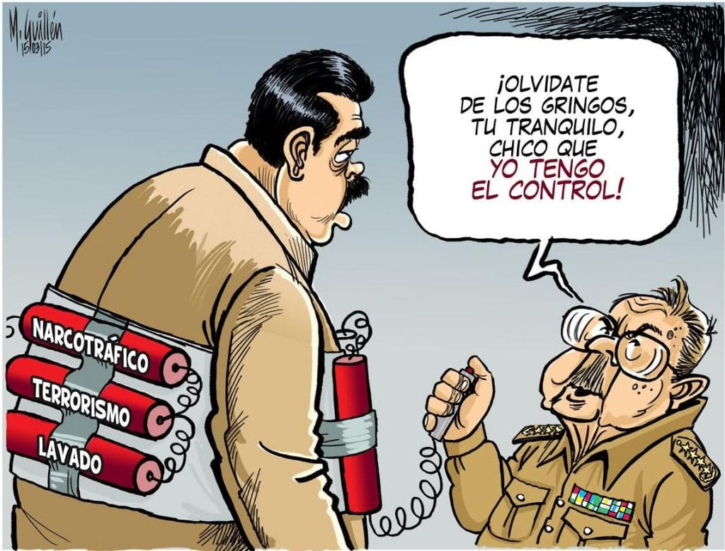 Don't worry about the Gringos. Take it easy kid, I've got it all under my control! Cartoon by Manuel Guillen/laprensa.com.ni