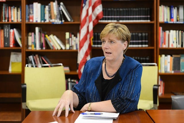 Ambassador Laura Dogu in her interview with Confidencial. Photo: Carlos Herrera/Confidencial
