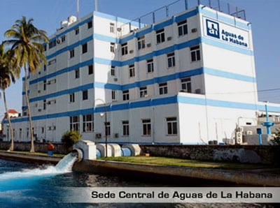 The main headquarters of the Aguas de La Habana water company.
